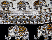 Load image into Gallery viewer, Close-up on aztec elephant pants pattern