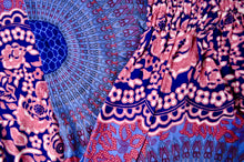 Load image into Gallery viewer, Close-up on mandala elephant pants pattern in purple