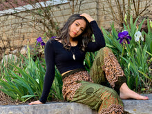 Load image into Gallery viewer, Mandala Elephant Pants-Olive Green
