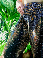 Load image into Gallery viewer, Peacock Elephant Pants-Black