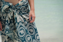 Load image into Gallery viewer, Tribal Beach Wrap in Teal