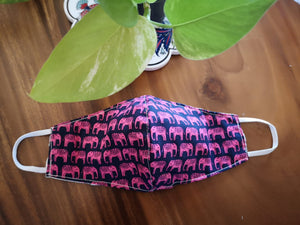 Small Print Elephant Mask