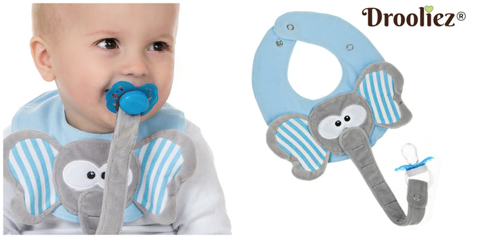 Drooliez™ Pacifier holder / Bib