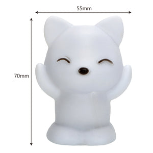 Cute Kawaii Fox Night Light - 7 Changing Colors