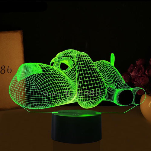 Cute Lounging Dog 3D Acrylic Night Lamp - Night Radiance