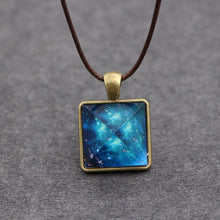Load image into Gallery viewer, Glow in the Dark Crystal Dark Pyramid Necklace - Night Radiance