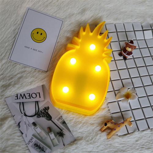 Pineapple Acrylic Night Light Decoration - Night Radiance