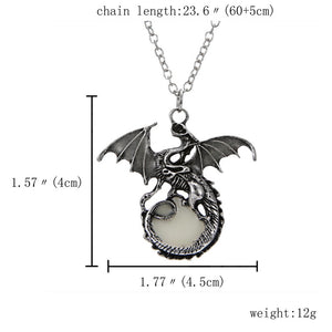 Dragon Glow in the Dark Necklace - Night Radiance