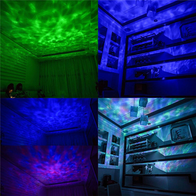 Ocean Wave Projector LED Night Light with Speaker and Remote - Night Radiance