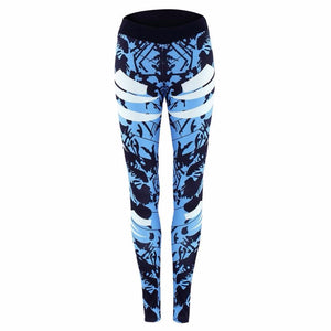 Radiant Blue Abstract Leggings