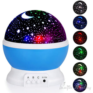 LED Rotating Star Projector Night Light - Night Radiance