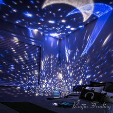 Load image into Gallery viewer, LED Rotating Star Projector Night Light - Night Radiance