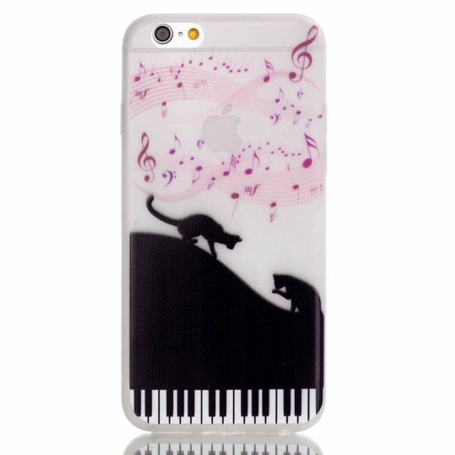 Luminous Musical Cat iPhone Case