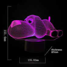 Load image into Gallery viewer, Cute Lounging Dog 3D Acrylic Night Lamp - Night Radiance