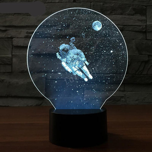 3D Moon man Space LED Night Light