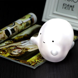 Cute Mini White Ghost LED Night Light - Night Radiance