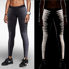 Load image into Gallery viewer, Reflective Slim Leggings with Zipper Pocket - Night Radiance