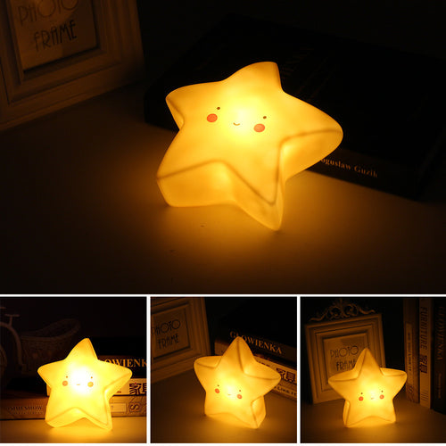 Cute Kawaii Star Shaped Night Light - Night Radiance