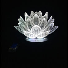 Load image into Gallery viewer, Lotus Flower Acrylic 3D Night Light - Night Radiance