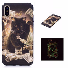 Load image into Gallery viewer, Luminous Cat Cash iPhone Case