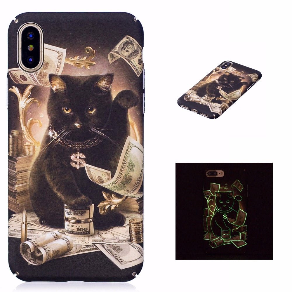 Luminous Cat Cash iPhone Case
