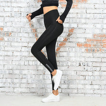Load image into Gallery viewer, Reflective Slash Workout Leggings