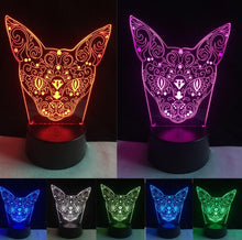 Load image into Gallery viewer, LED Acrylic 3D Kitten Night Light - Night Radiance