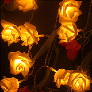 Yellow LED Rose Garland - Night Radiance