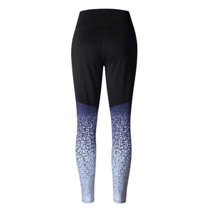Scattered Space Yoga Set Leggings and Sports Top - Night Radiance