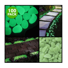 Load image into Gallery viewer, 100-Pack: Glow in the Dark Garden Pebbles - Night Radiance