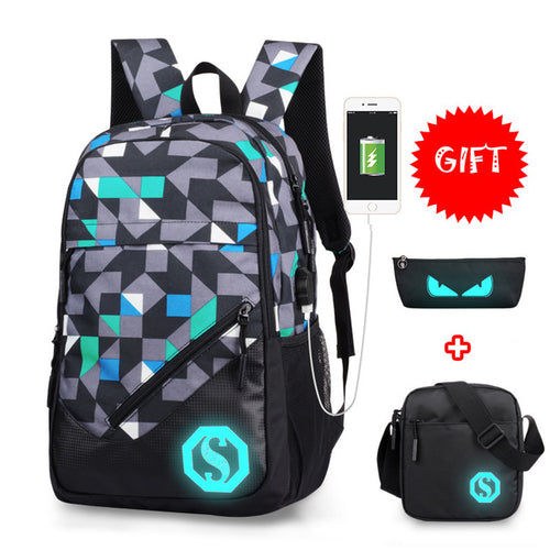 Luminous Backpack with External Charging - Night Radiance