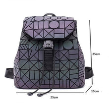Load image into Gallery viewer, Luminous Geometric School Bag