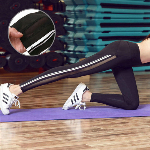 Reflective Strip Yoga Leggings