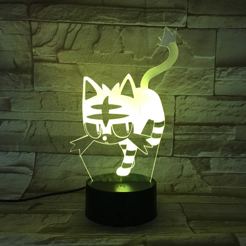 Acrylic Cat 3D Led Night Light