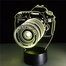 Load image into Gallery viewer, 3D Camera LED Night Lamp