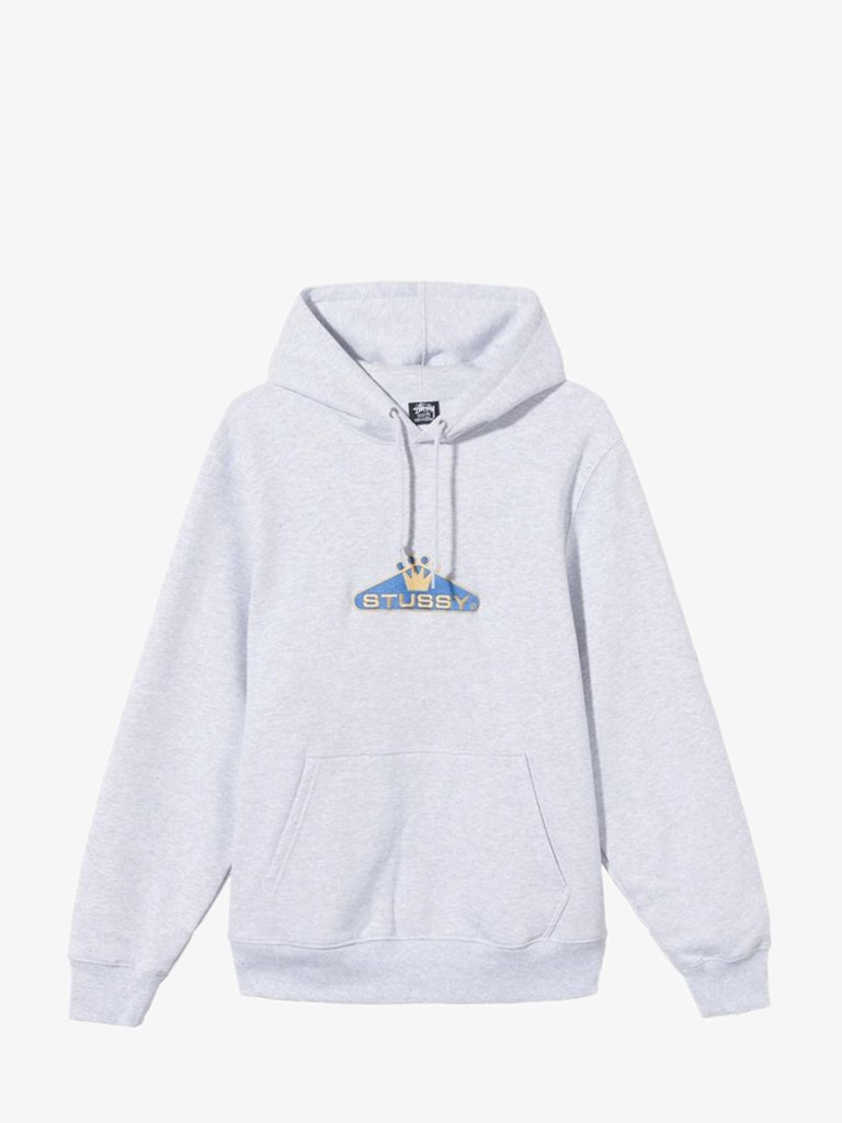 1184230062 CROWNED APP. HOODIE MEN-CLOTHING HOODIE STÜSSY S ASH HEATHER SMETS