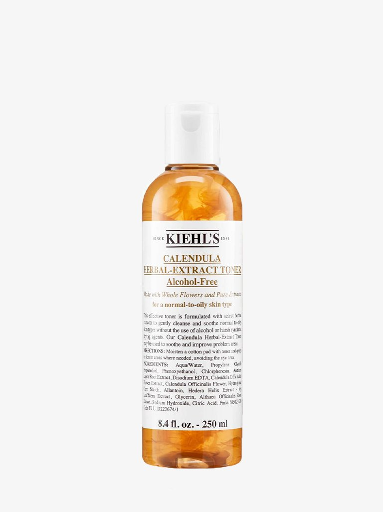 ALCOHOL CALENDULA HERBAL EXTRACT TONER-FREE BEAUTY-FACE CARE CLEANSER KIEHLS SMETS