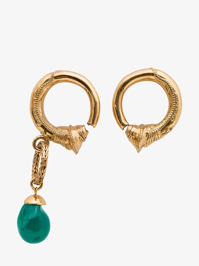 ASYMETRIC HOOP EARRINGS WOMEN-JEWELRY EARRINGS PATOU SMETS