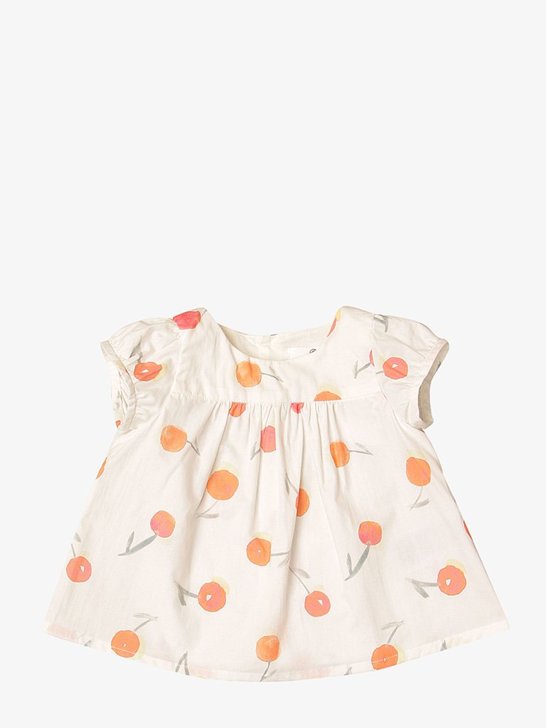BABY GIRLS' LAVANDE SMOCK BLOUSE BABIES-CLOTHING BLOUSE BONPOINT SMETS