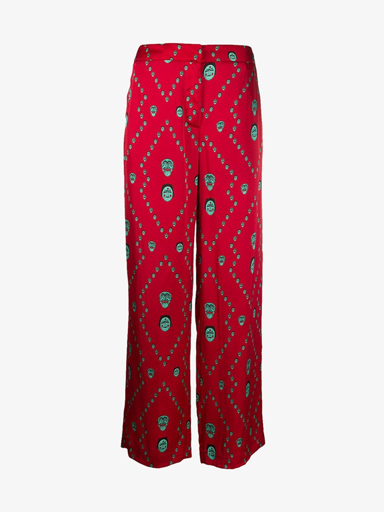 CA012S20FAB0022551 PANTS WOMEN-CLOTHING PANTS KIRIN PEGGY GOU IT 38 RED/MINT SMETS
