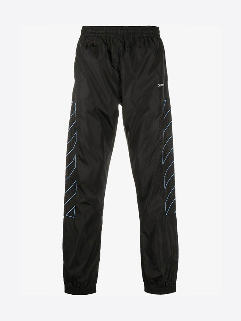 CA086F20FAB0011040 DIAG TRACK PANTS MEN-CLOTHING TRACK PANTS OFF-WHITE S BLACK/LIGHT BLUE SMETS