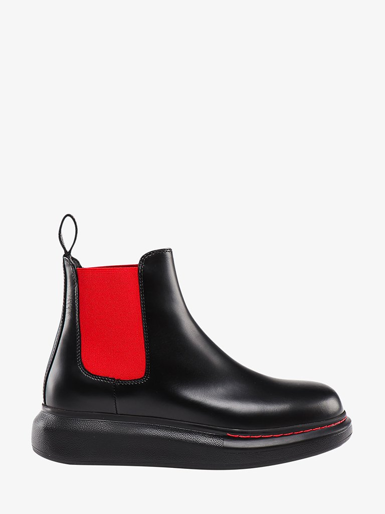 CALFSKIN AND RUBER LOW BOOTS WOMEN-SHOES BOOTS ALEXANDER MCQUEEN SMETS