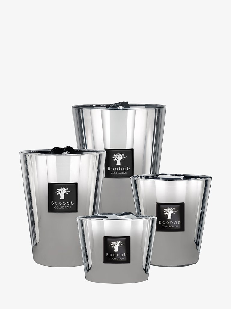 CANDLE LES EXCLUSIVES PLATINUM WHITE LIFESTYLE-CANDLES HOME FRAGRANCES CANDLE BAOBAB SMETS
