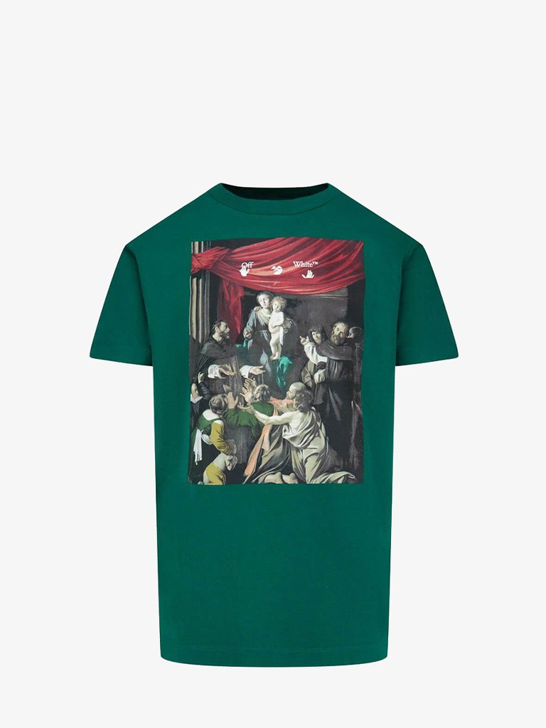 CARAVAG PAINTING T-SHIRT * MEN-CLOTHING T-SHIRT OFF-WHITE SMETS