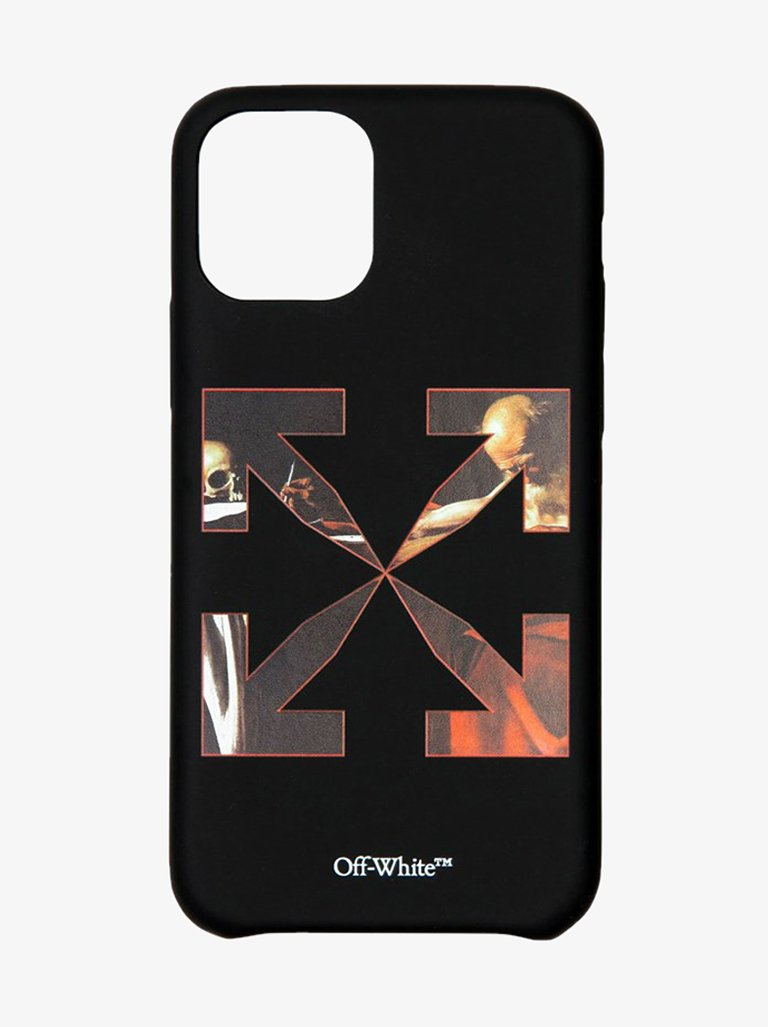 CARAVAGGIO IPHONE 11 PRO COVER MEN-ACCESSORIES IPHONE CASE OFF-WHITE SMETS