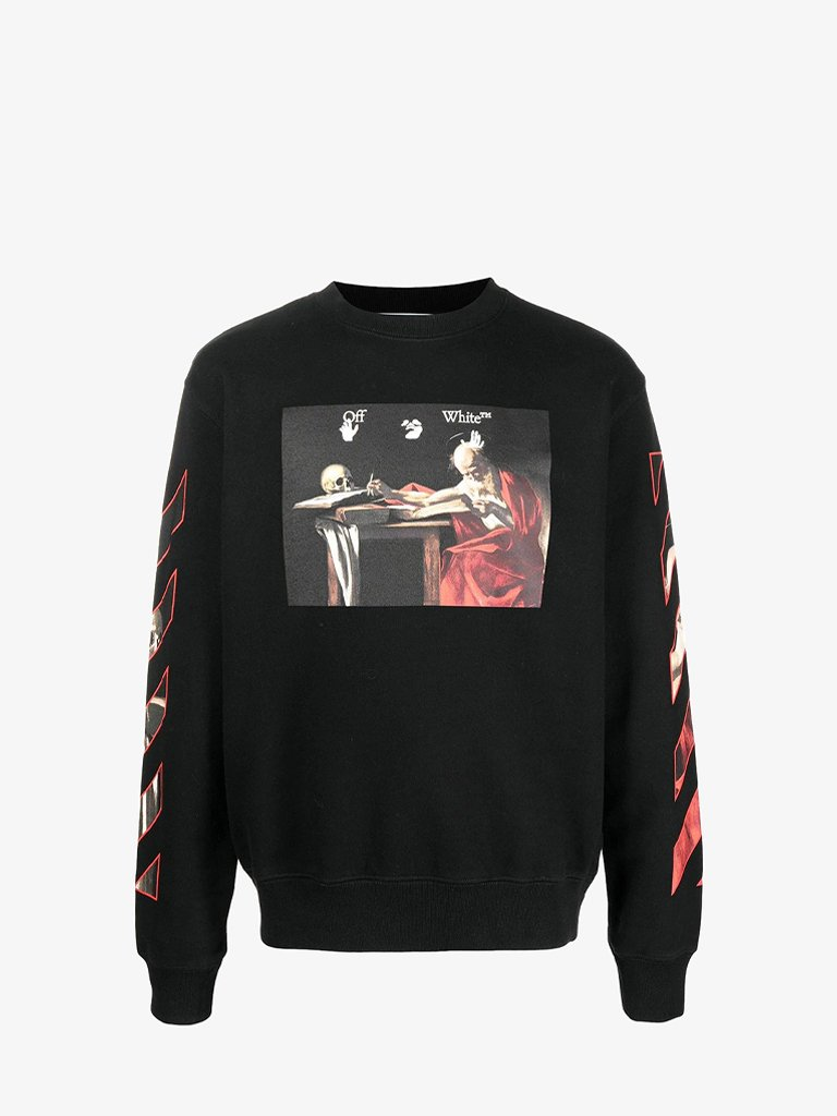 CARAVAGGIO SLIM SWEATSHIRT MEN-CLOTHING SWEATSHIRT OFF-WHITE SMETS