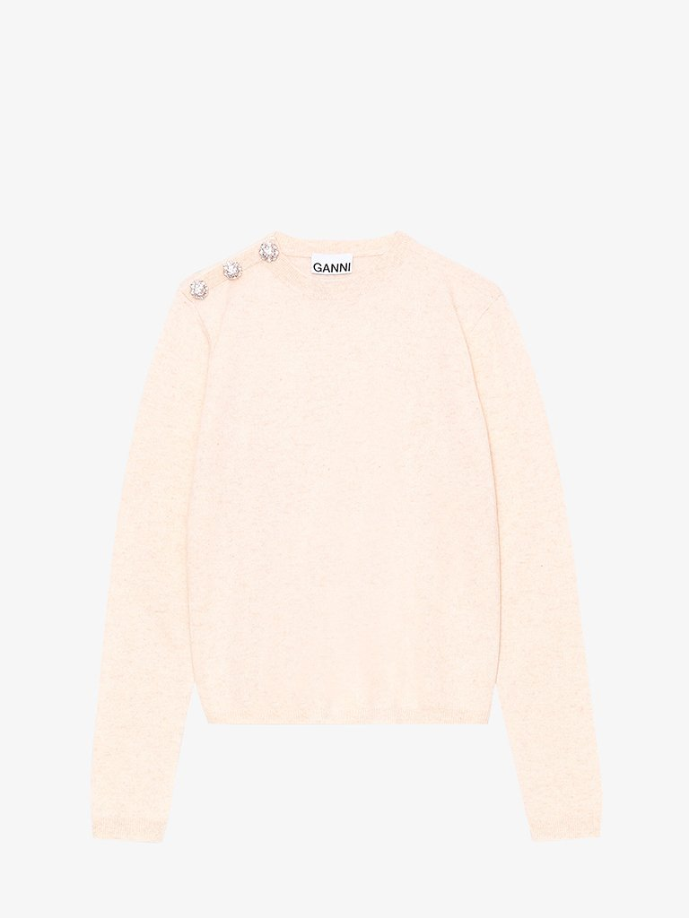 CASHMERE KNIT CREWNECK WOMEN-CLOTHING KNITWEAR GANNI SMETS