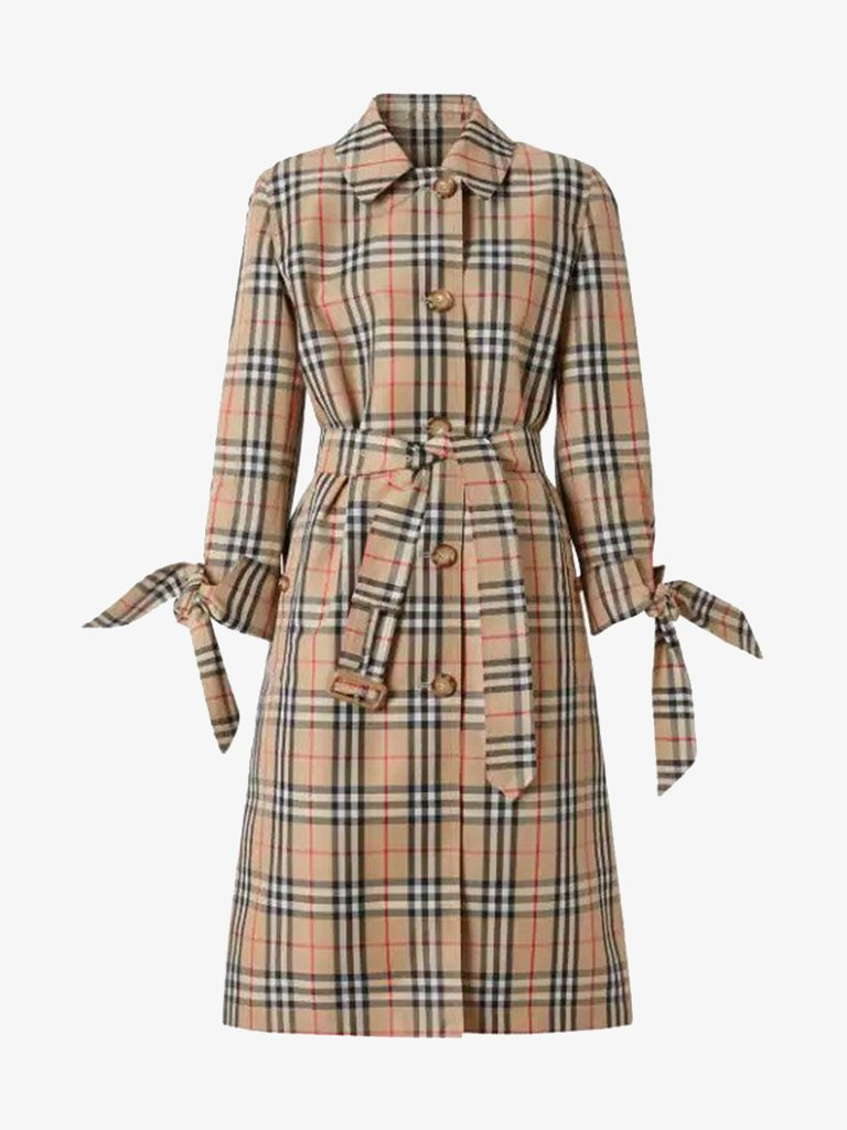 CLAYGATE CHECK COAT WOMEN-CLOTHING COAT BURBERRY SMETS