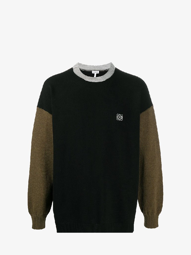 COLOUR BLOCK CREWNECK SWEATER MEN-CLOTHING CREWNECK LOEWE SMETS