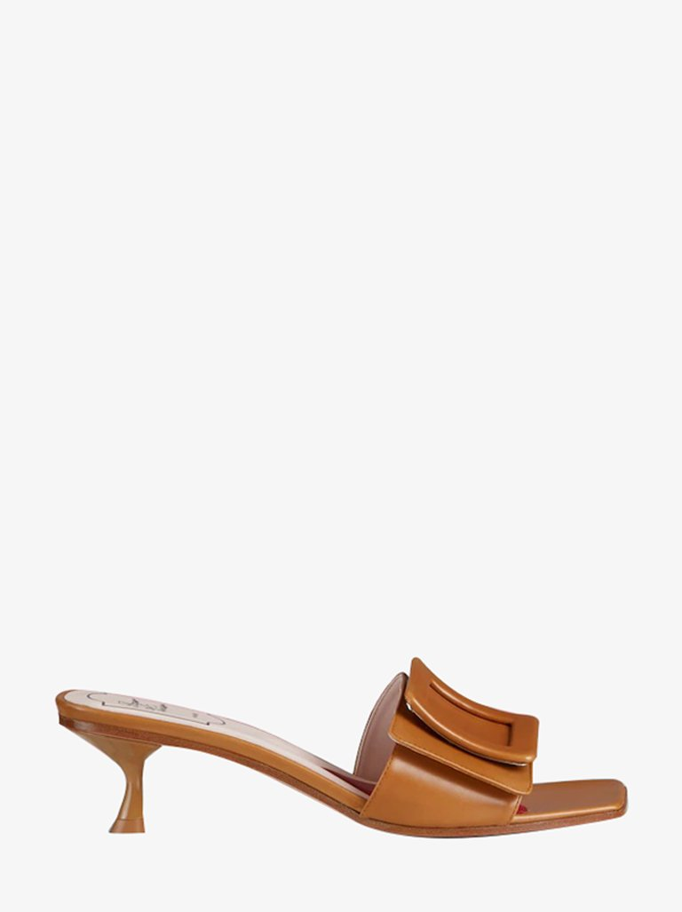 COVERED BUCKLE 45 MULES WOMEN-SHOES MULES ROGER VIVIER SMETS
